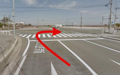 十字路の交差点