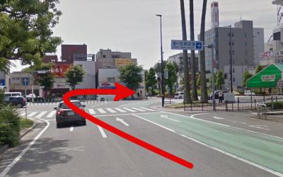 大牟田駅前の信号