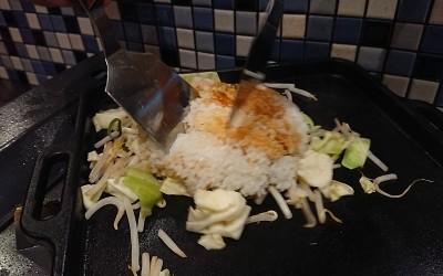 ご飯を野菜