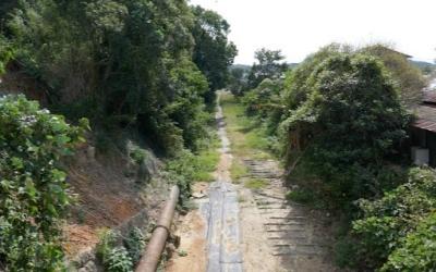 三池炭鉱専用鉄道敷跡
