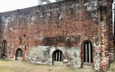デビーポンプ室の壁の一部