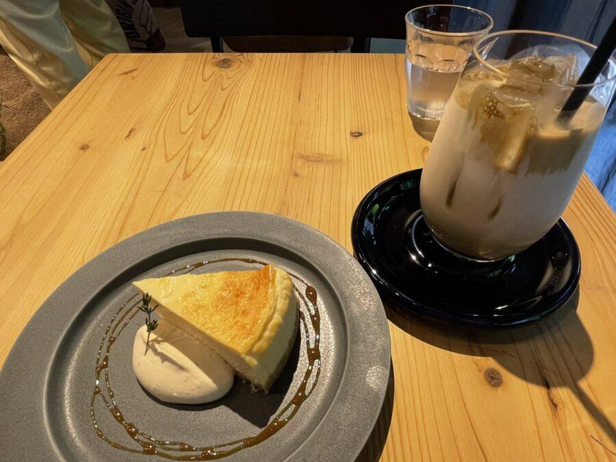チーズケーキ&ほうじ茶ラテ